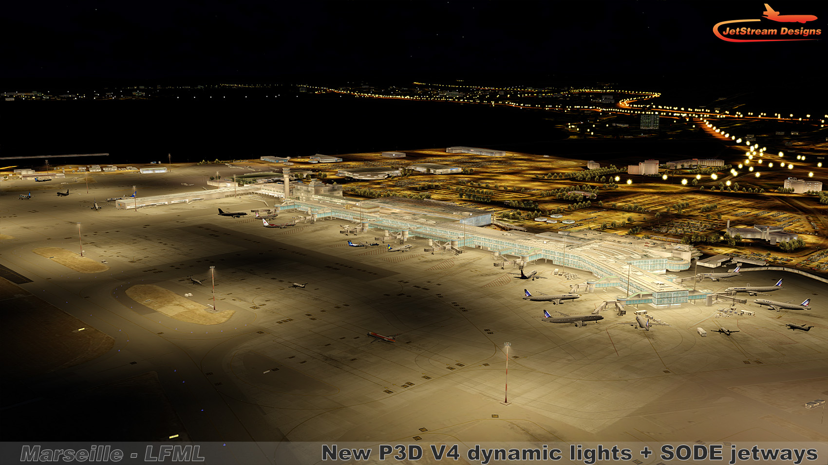 JETSTREAM DESIGNS - MARSEILLE PROVENCE AIRPORT LFML X 2013 FSX P3D