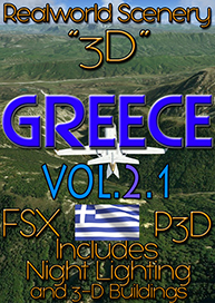 REALWORLD SCENERY - REALWORLD SCENERY GREECE 3D VOL.2.1 FSX P3D