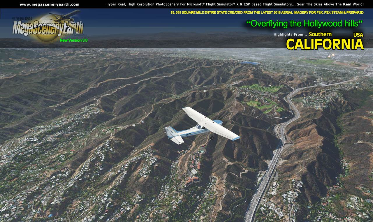 MEGASCENERYEARTH - PC AVIATOR - MEGASCENERY EARTH V3 - SOUTHERN CALIFORNIA FSX P3D