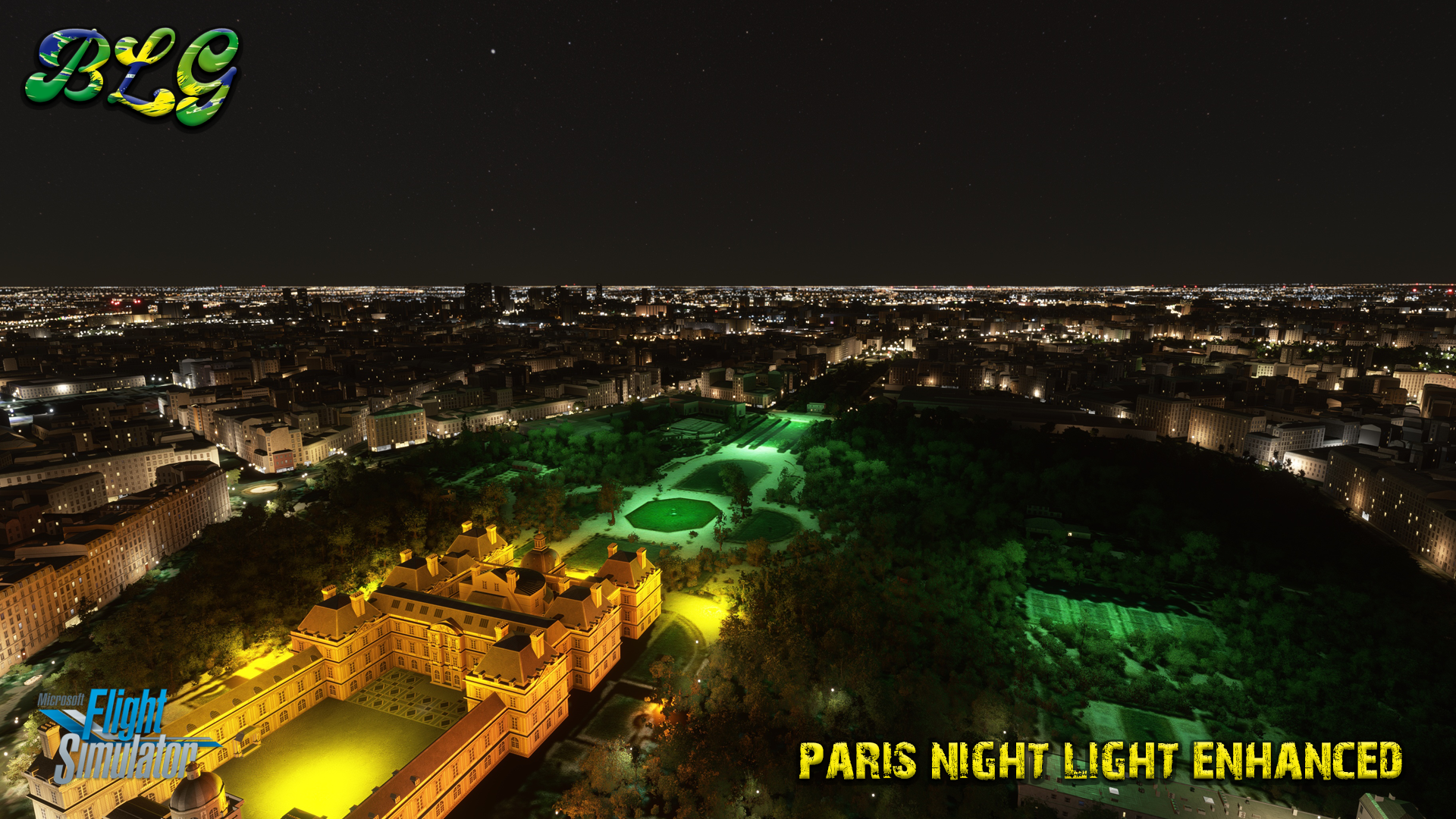 BRAZIL LAND GAMES - PARIS NIGHT LIGHT ENHANCED MSFS