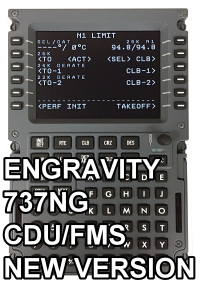 ENGRAVITY - 737NG CDU/FMS NEW VERSION