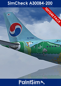 PAINTSIM - HD TEXTURE PACK 2 FOR SIMCHECK AIRBUS A300B4-200 FSX