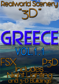 REALWORLD SCENERY - REALWORLD SCENERY GREECE 3D VOL.1.1 FSX P3D