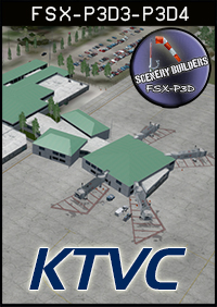 FSXCENERY - KTVC TRAVERSE CITY MICHIGAN FSX P3D