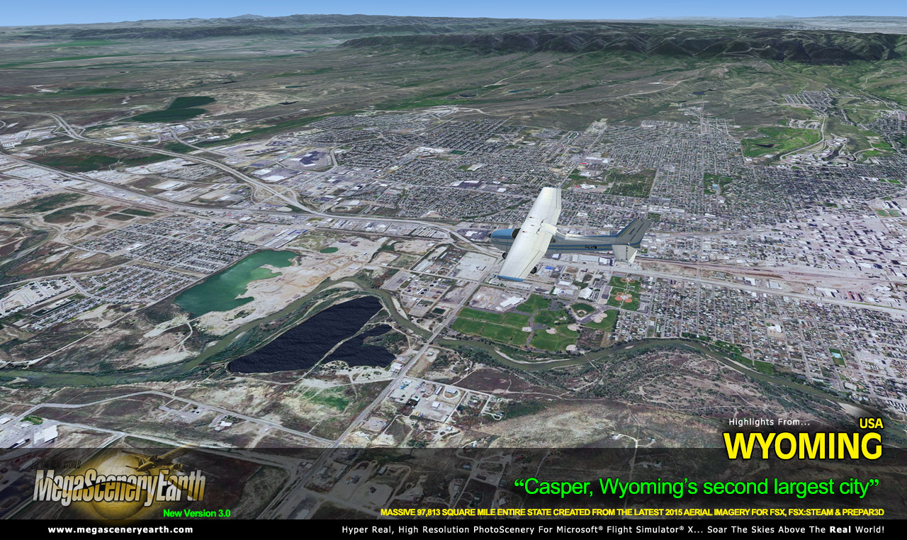 MEGASCENERYEARTH - WYOMING V3 2017 FSX P3D