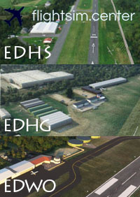 FLIGHTSIM.CENTER - EDHS, EDHG, EDWO BUNDLE 3 AIRFIELD NORTH GERMANY PACK MSFS