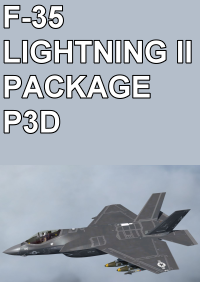 "INDIAFOXTECHO - F-35 LIGHTNING II PACKAGE ""闪电II"" 战斗机 P3D"