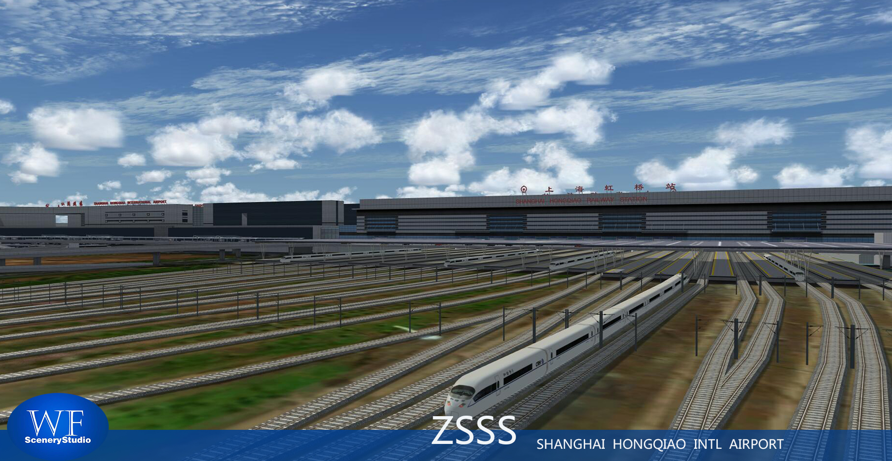 WF SCENERY STUDIO - SHANGHAI HONGQIAO INTERNATIONAL AIRPORT ZSSS P3D4