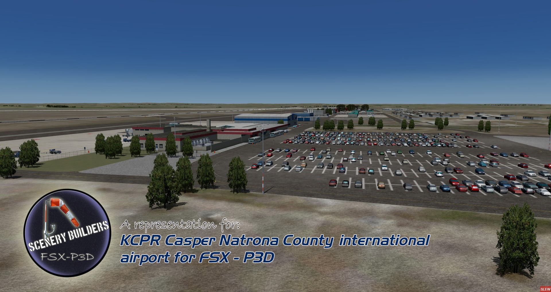 FSXCENERY - KCPR CASPER NATRONA COUNTY INTERNATIONAL AIRPORT FSX P3D