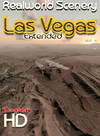 REALWORLD SCENERY - LAS VEGAS EXTENDED - FSX FSXSE P3D (ALL VERSIONS)