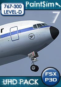 PAINTSIM - UHD TEXTURE PACK 7 FOR LEVEL-D BOEING 767-300ER FSX P3D