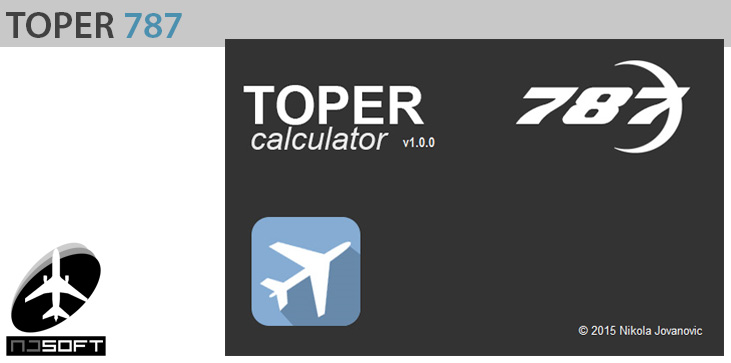 TOPER CALCULATOR TOOL - B787 DREAMLINER (TAKEOFF PERFORMANCE CALCULATOR)