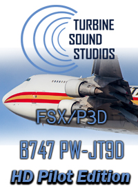 TURBINE SOUND STUDIOS - BOEING 747 PRATT & WHITNEY JT-9D-7R4 PILOT EDITION SOUNDPACKAGE FSX P3D