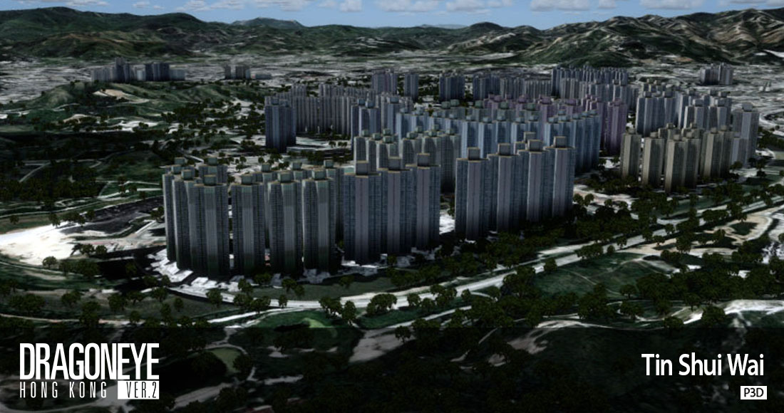 SCENERY ON DEMAND - DRAGONEYE HONG KONG FSX P3D