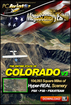 PC AVIATOR - MEGASCENERY EARTH V3 - COLORADO FSX P3D