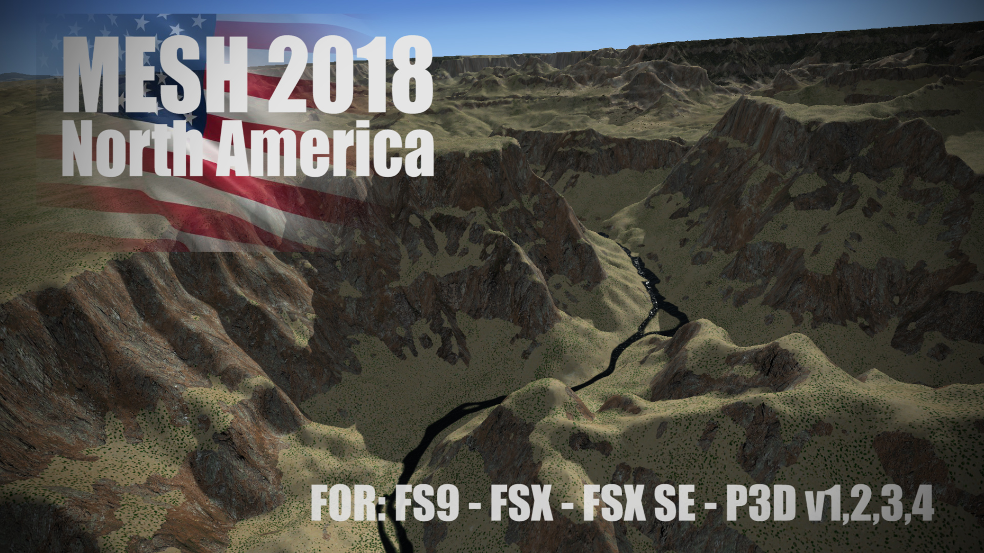 FLIGHTSIMDESIGN CHILE - MESH 2018 NORTH AMERICA FSX P3D FS2004