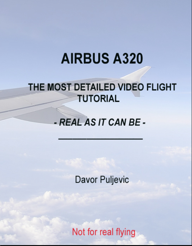 DAVOR PULJEVIC - AIRBUS A320 VIDEO FLIGHT TUTORIAL