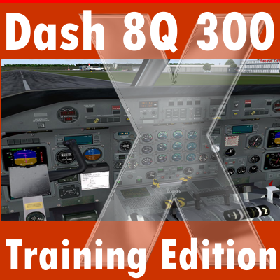 MAJESTIC SOFTWARE - DASH 8 Q300 TRAINING EDITION 冲8 Q300 训练版 FS2004 FSX