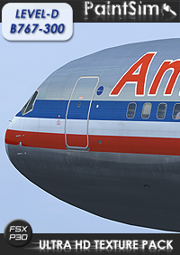 PAINTSIM - UHD TEXTURE PACK FOR LEVEL-D BOEING 767-300ER FSX P3D