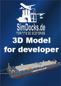 SIMDOCKS.DE - 3D MODEL - TRANSPORT BARGE FOR LIQUID GAS