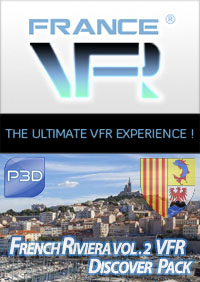 FRANCE VFR - FRENCH RIVIERA VFR VOL.2 DISCOVER PACK P3D4-5