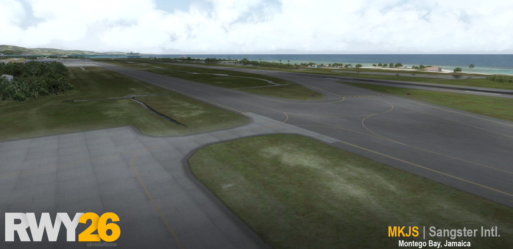 RWY26 SIMULATIONS - DONALD SANGSTER INTERNATIONAL AIRPORT P3D