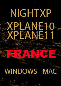 TABURET - NIGHT XP FRANCE FOR X-PLANE 10/11