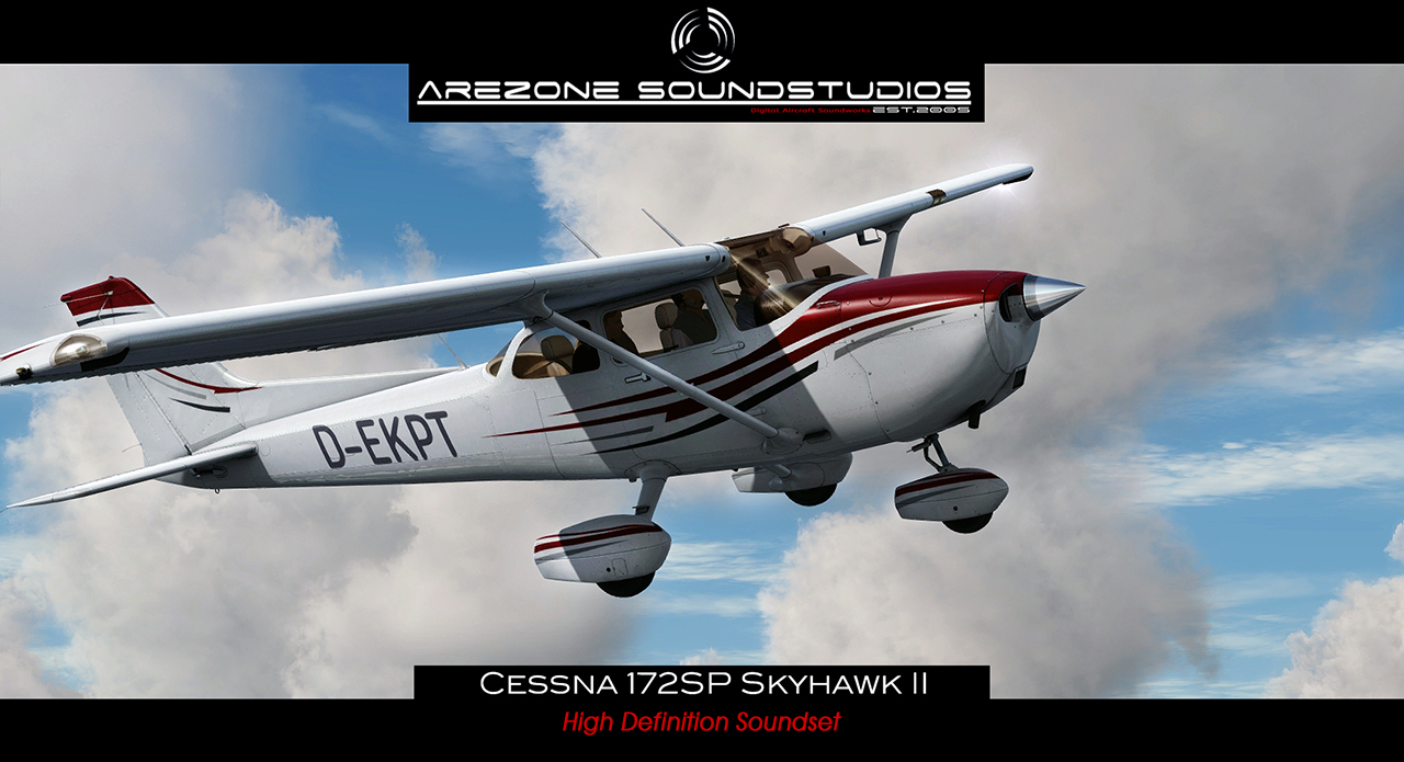 AREZONE-AVIATION SOUNDSTUDIOS - FSX P3D CESSNA 172SP SKYHAWK II HQ SOUNDSET
