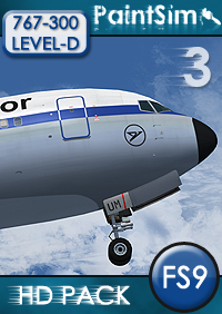PAINTSIM - HD TEXTURE PACK 3 FOR LEVEL-D BOEING 767-300ER FS2004