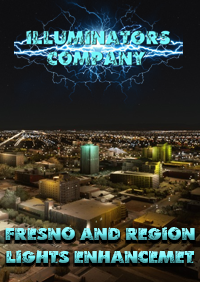 ILLUMINATORS - FRESNO AND REGION (USA )NIGHT LIGHT ENHANCED FOR MSFS