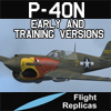 FLIGHT REPLICAS - CURTISS P-40N WARHAWK / KITTYHAWK IV EARLY AND TRAINING VERSIONS FOR FSX