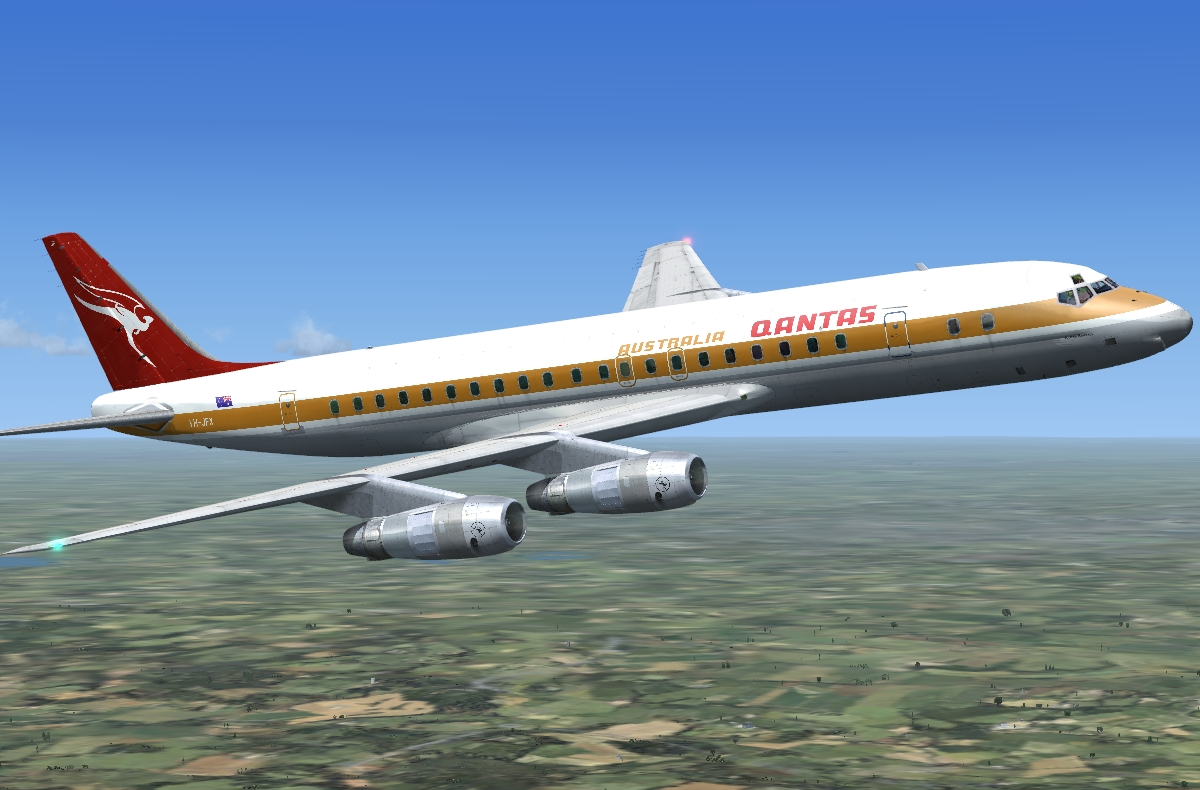 JUSTFLIGHT - DC-8 JETLINER SERIES 50-70 'WHAT IF?' LIVERY PACK FSX P3D