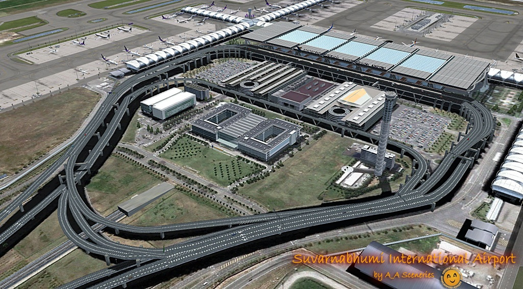 BANGKOK AIRPORT VOL1 SUVARNABHUMI INTERNATIONAL FSX