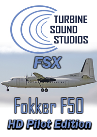 TURBINE SOUND STUDIOS - FOKKER F-50 PW-125B HD PILOT EDITION SOUNDPACK FOR FSX