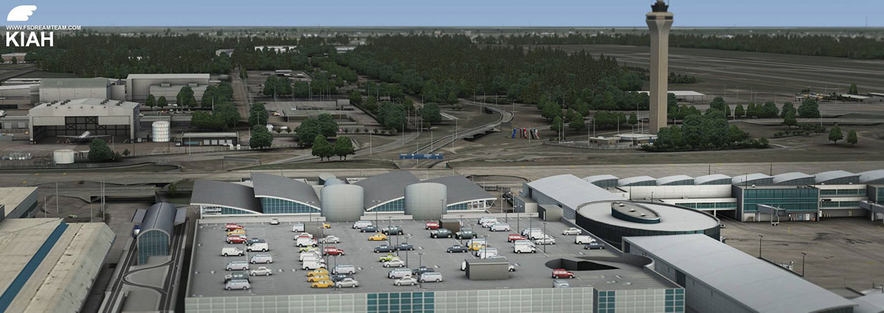 FSDREAMTEAM - HOUSTON GEORGE BUSH INTERCONTINENTAL FSX P3D