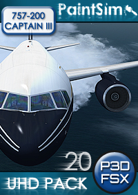 PAINTSIM - UHD TEXTURE PACK 20 FOR CAPTAIN SIM BOEING 757-200 III FSX P3D
