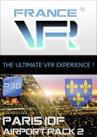 FRANCE VFR - PARIS - ILE DE FRANCE VFR - AIRPORT PACK VOL2 P3D V5/V4