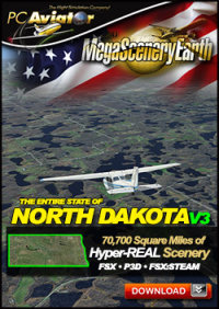 PC AVIATOR - MEGASCENERY EARTH V3 - NORTH DAKOTA FSX P3D