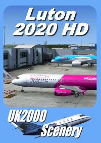 UK2000 SCENERY - LUTON 2020HD FSX P3D X-PLANE 11