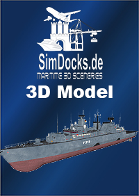 "SIMDOCKS.DE - SIMDOCKS 3D MODEL GERMAN FRIGATE F217 ""BAYERN"""