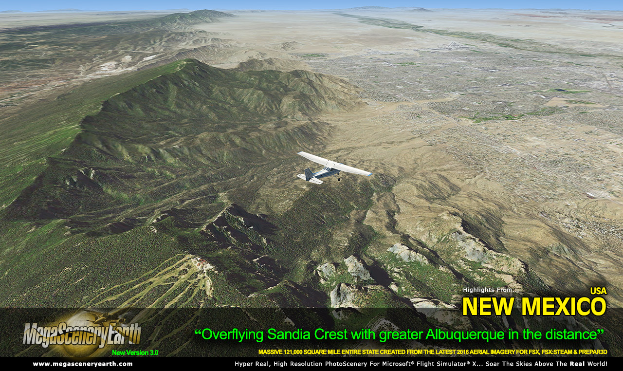 MEGASCENERYEARTH - NEW MEXICO V3 FSX P3D