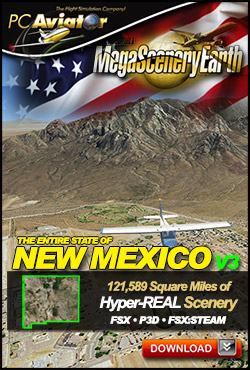 MEGASCENERYEARTH - PC AVIATOR - MEGASCENERY EARTH V3 - NEW MEXICO FSX P3D