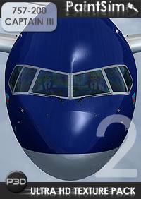 PAINTSIM - UHD TEXTURE PACK 2 FOR CAPTAIN SIM BOEING 757-200 III P3D V4