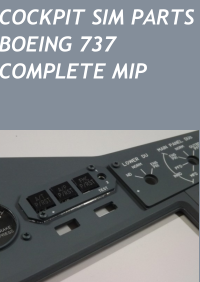 COCKPIT SIM PARTS - BOEING 737 COMPLETE MIP WITH 5MM PANELS V4