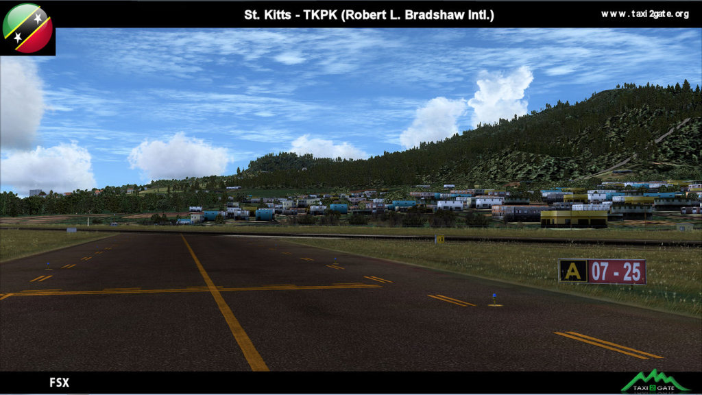 TAXI2GATE - ST. KITTS - TKPK - ROBERT L. BRADSHAW INTERNATIONAL FSX P3D