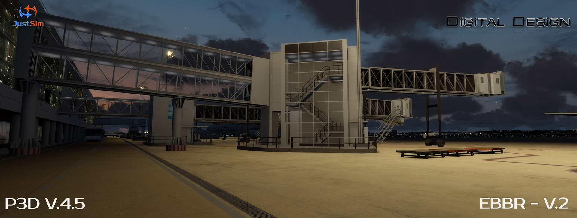 JUSTSIM - EBBR - BRUSSELS AIRPORT V2 P3D4.4+