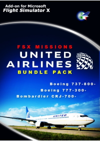 PERFECT FLIGHT - FSX MISSIONS – UNITED AIRLINES BUNDLE PACK