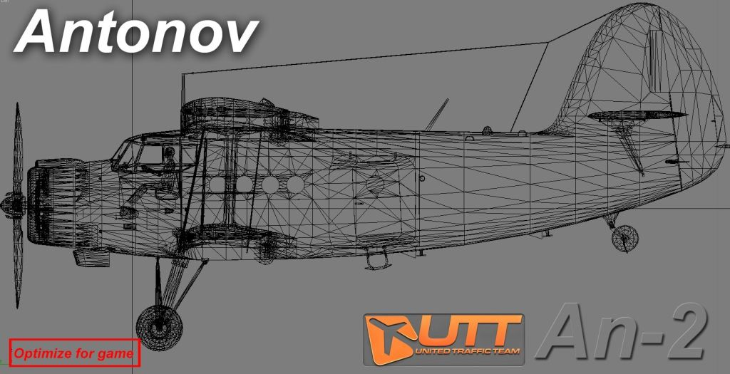 UTT - ANTONOV AN 2 SOURCE MODEL FOR 3DS MAX