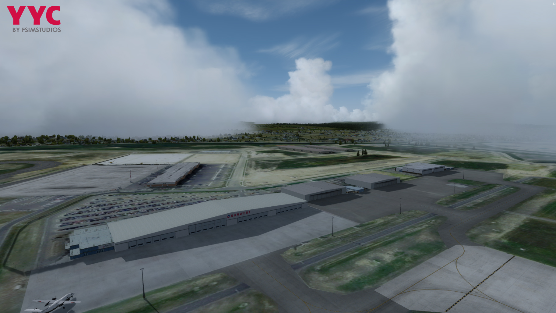FSIMSTUDIOS - CALGARY INTERNATIONAL AIRPORT CYYC FSX P3D