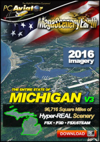 MEGASCENERYEARTH - PC AVIATOR - MEGASCENERY EARTH V3 - MICHIGAN FSX P3D